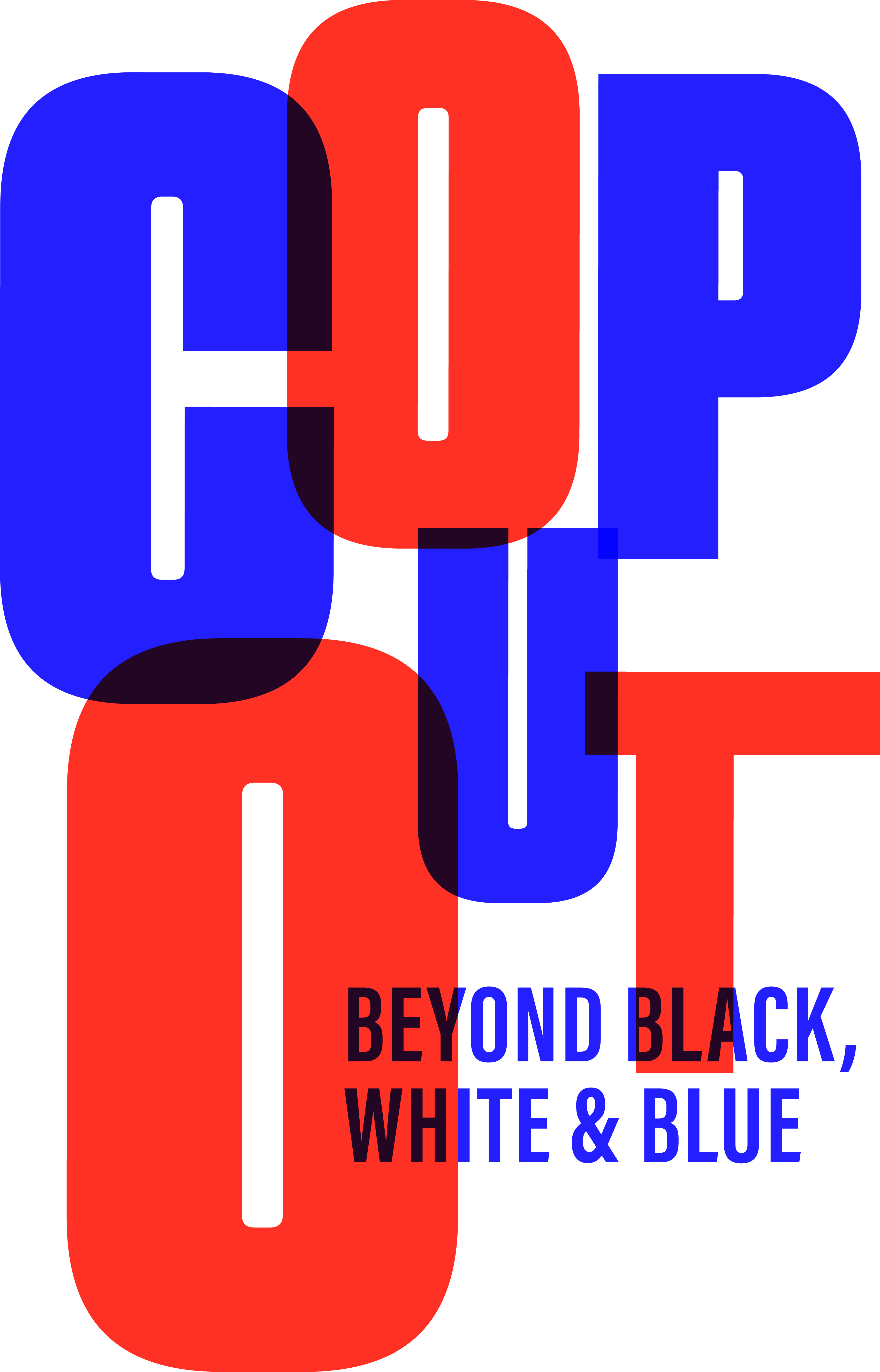 Cop Out Beyond Black White Blue Red Door Project